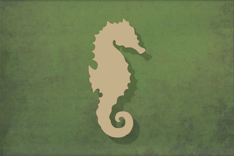 Laser cut, blank wooden seahorse shape for craft