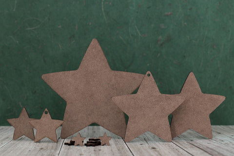 Wooden star Shapes 2mm mdf