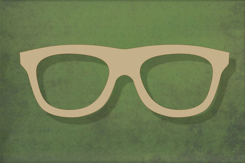 Laser cut, blank wooden sunglasses shape for craft