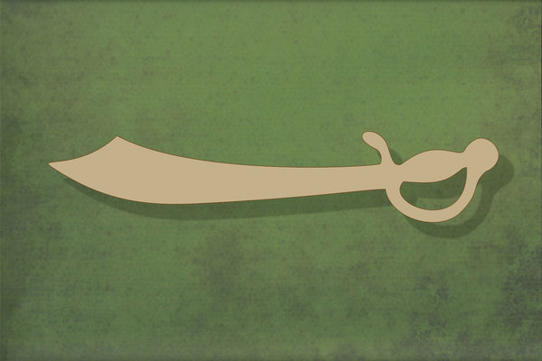 Laser cut, blank wooden sword 1 shape for craft