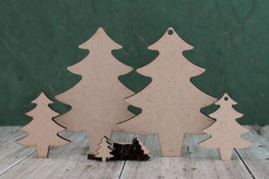 Laser cut christmas tree blanks different sizes