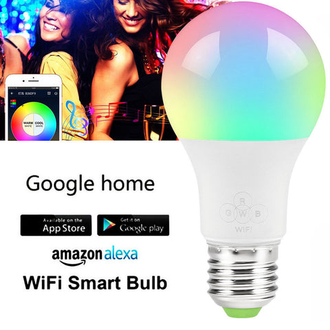 Smart Bulb Wireless WiFi App Remote Control Light for Alexa Google Home