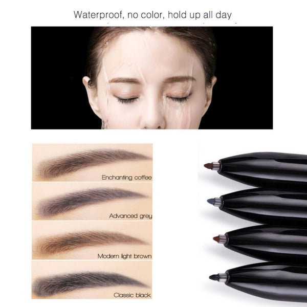 Fashion Eyebrow Enhancer Pencil 4 Colors In 1 Makeup Eyebrow Convenient Long-lasting Easy To Wear Eye Brow Maquiagem New