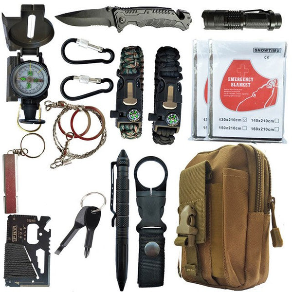 16 in 1 Outdoor Survival Kit