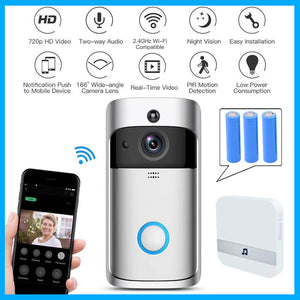 Wifi doorbell Camera Smart WI-FI Video Intercom Door Bell Video Call For Apartments IR Alarm Wireless color lens Security Camera