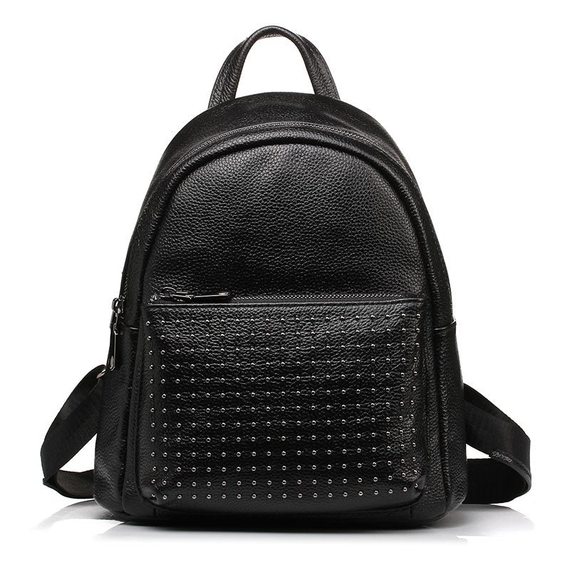 100% Genuine Leather Women Backpack