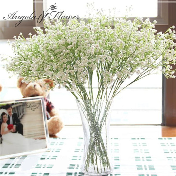 1PCS 58cm Rustic artificial flower interspersion mantianxing decor for home table  wedding flower plastic Gypsophila babysbreath