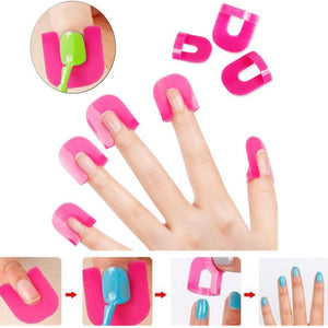 26PCS Professional French Nail Art Manicure Stickers Tips Finger Cover Polish Shield Protector Nails Case Salon Tools Set New