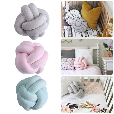 Decorative Pillows INS Nordic Cushion Innovative Handmade Knotted Knot Ball Home Baby Pillow Cushion Simple Car Cushions F