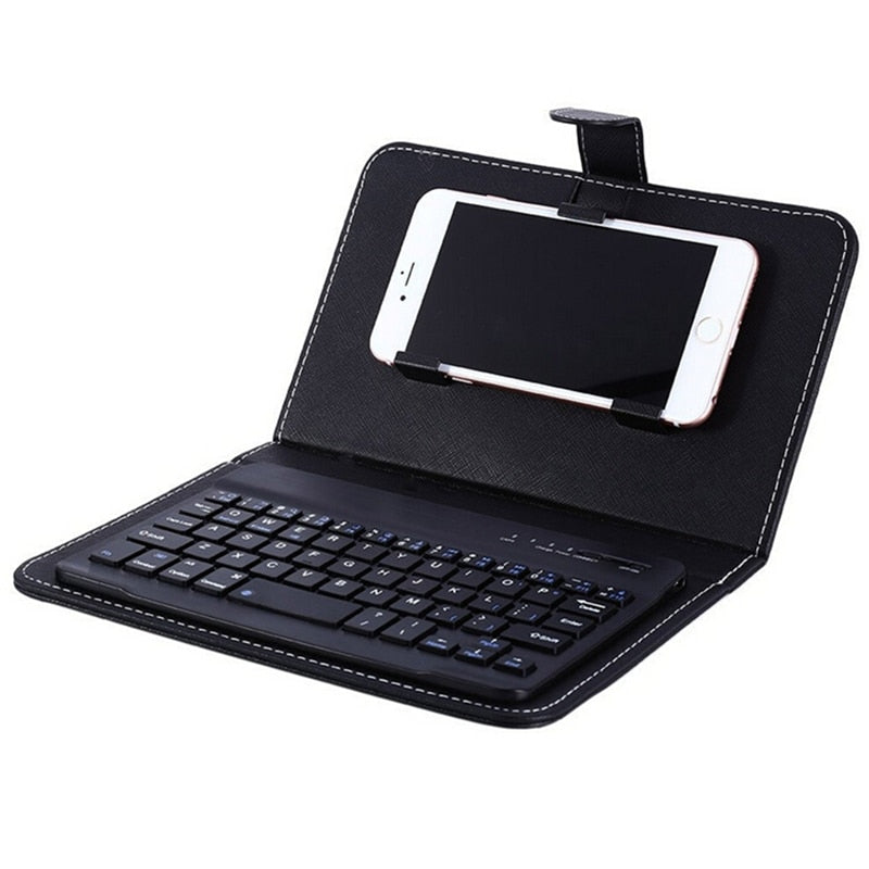 Phone Leather Case With Bluetooth Keyboard