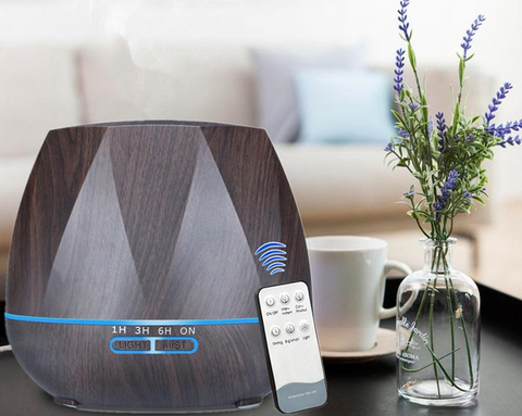 Portable Air Humidifier Remote Control 7 Colour Changing Timer
