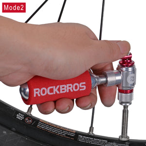 ROCKBROS Bicycle Mini Pump CO2 Inflator Insulated Sleeve Air Cycling Bike Bicycle Pump Bike Ball Pump Bike Bicycle Accessories
