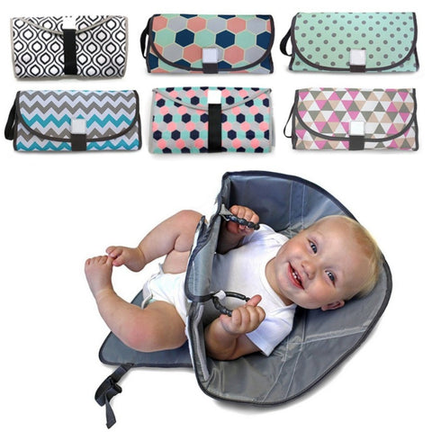 Portable Diaper Changing Pad Clutch with Barrier for Newborn Foldable Clean Hands Changing Station Soft Flexible Travel Mat13