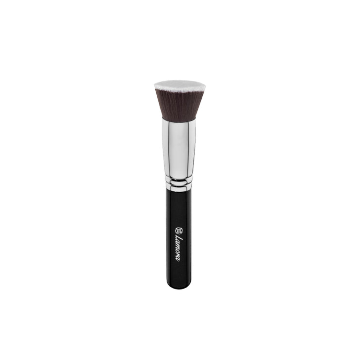 Flat-top foundation Kabuki Brush from Lamora Beauty in Black