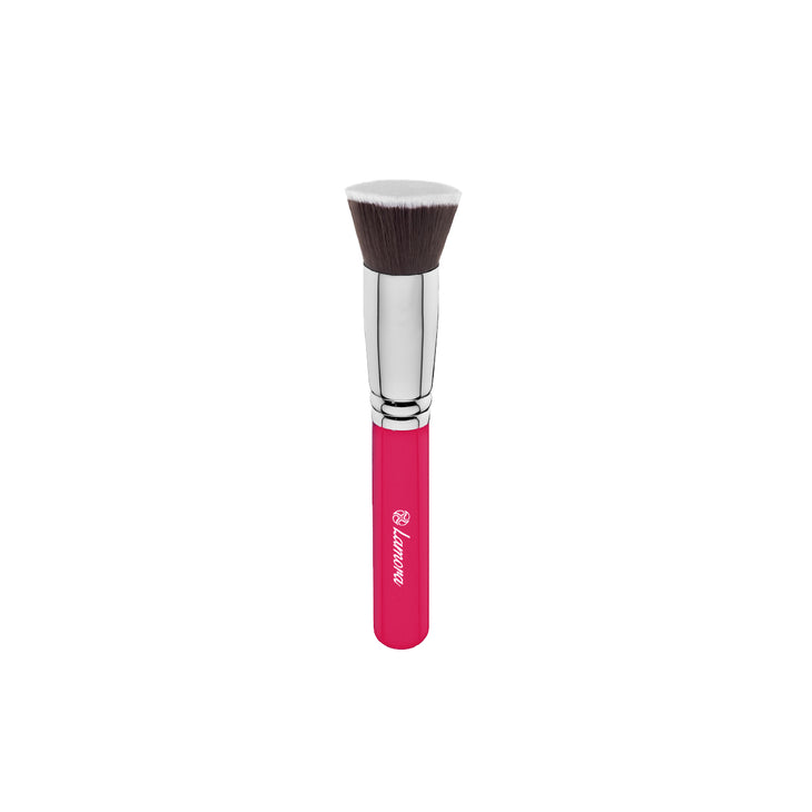 Flat-top foundation Kabuki Brush from Lamora Beauty in Pink
