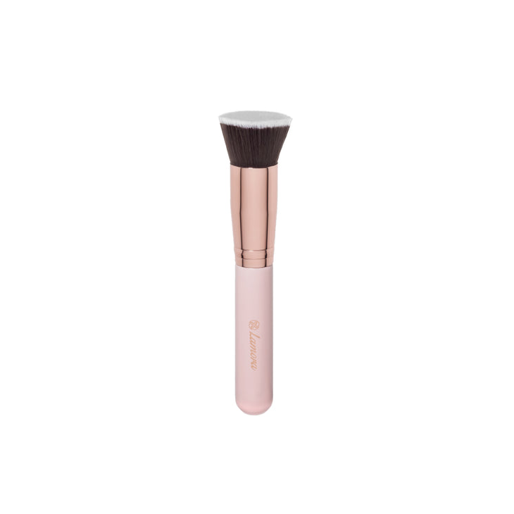 Flat-top foundation Kabuki Brush in Rose and Gold from Lamora Beauty