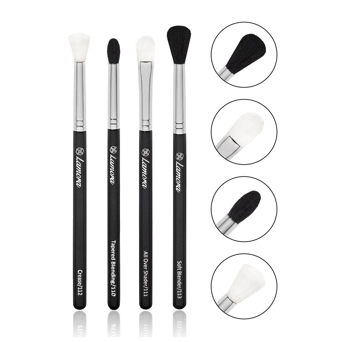 4pc Eyeshadow Blending Brush Set from Lamora Beauty
