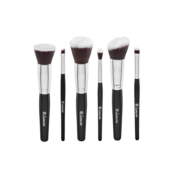 Essential Makeup Brush Travel Set from Lamora Beauty in Black