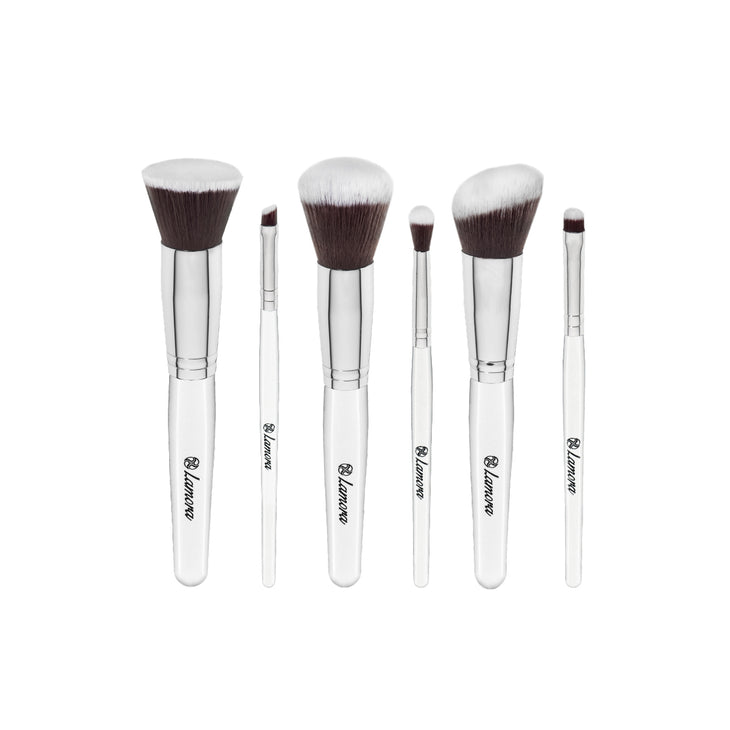 Essential Makeup Brush Travel Set from Lamora Beauty in White