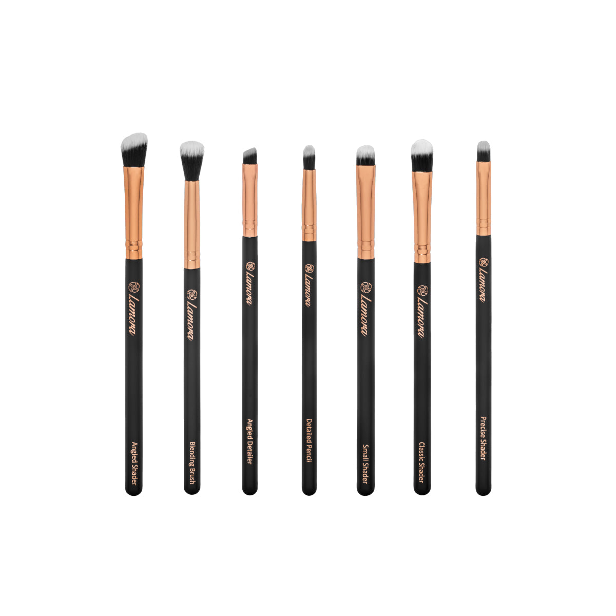 Eyeshadow Brush Set from Lamora Beauty in Rose Gold and Black