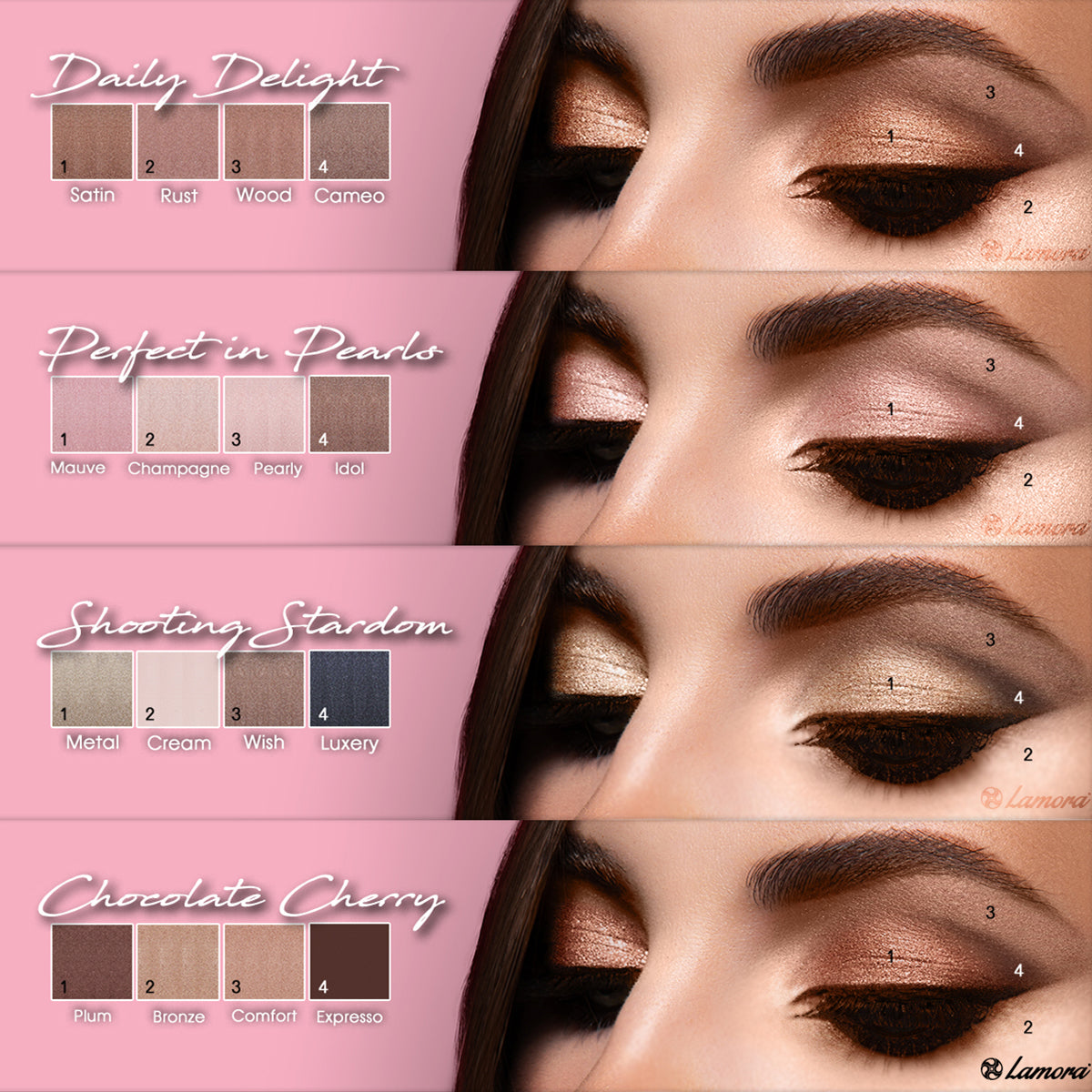 Eyeshadow makeup color combination ideas
