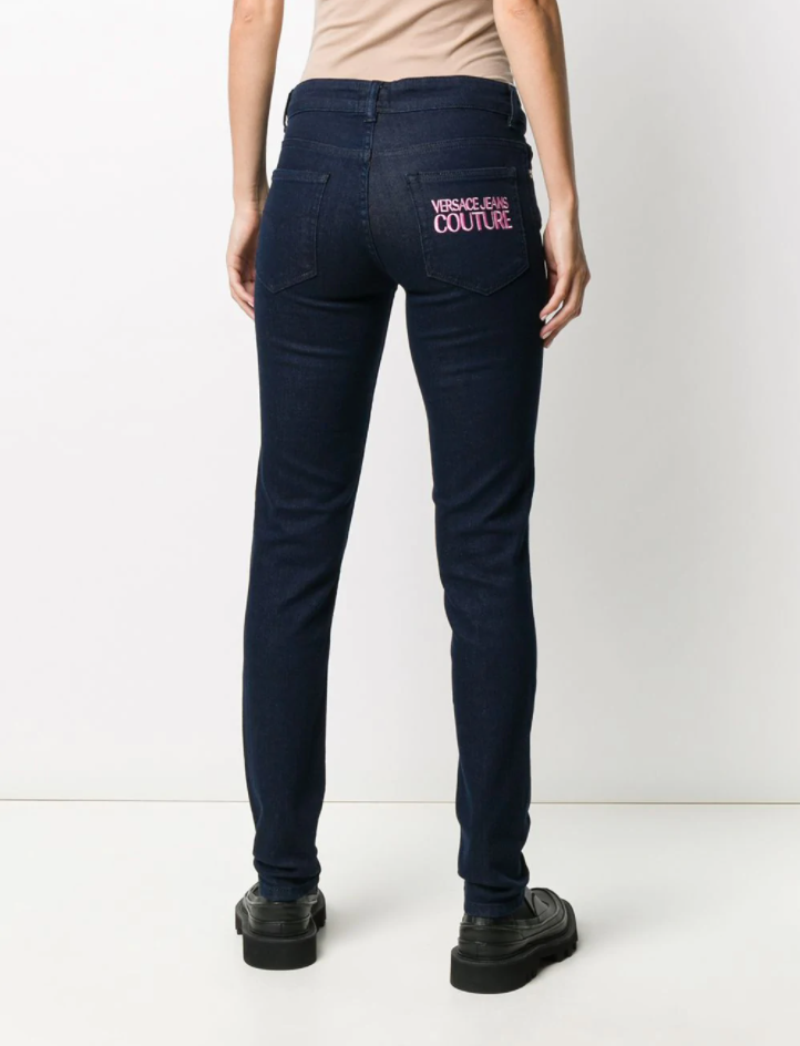 Versace Jeans Couture - jean skinny à logo brodé