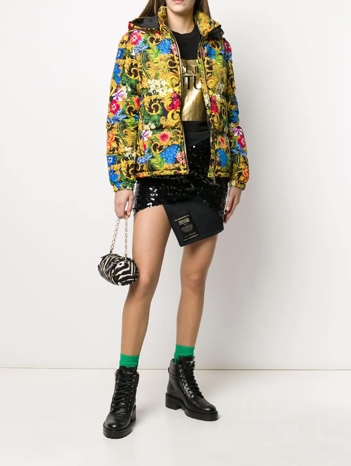 VERSACE JEANS COUTURE Donsjas met Jungle Baroque print