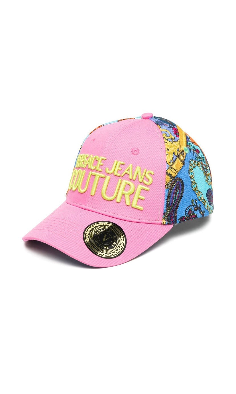 VERSACE JEANS COUTURE - embroidered logo panelled cap