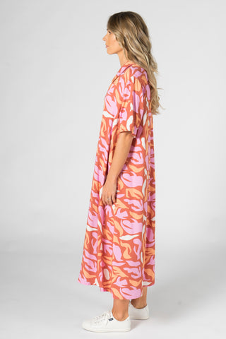 Everyday Maxi Dress in Coral Reef
