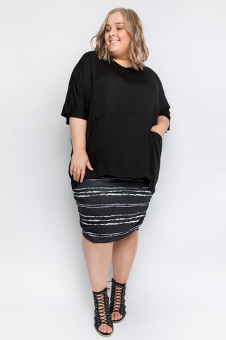 Ruche Skirt in Sugar Stripe
