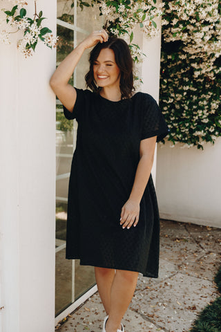 Breezy Dress in Black Shell