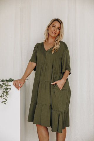 Chic Dress in Khaki