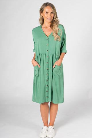 Dazzle Dress in Cactus