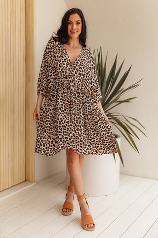 Delightful Dress in Wild Leopard