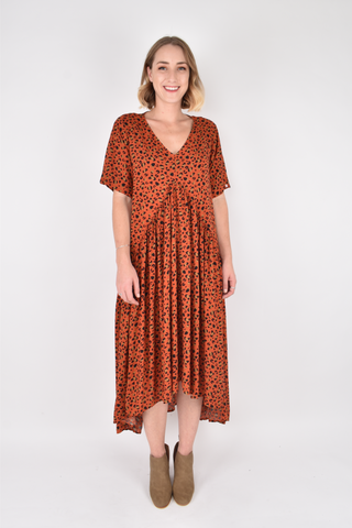 Peak Maxi Dress in Desert Leopard