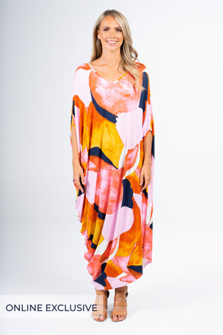 Drape Dress in Golden Oasis