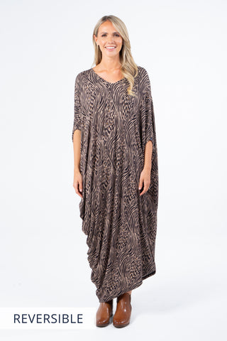 Drape Dress in Jungle Love