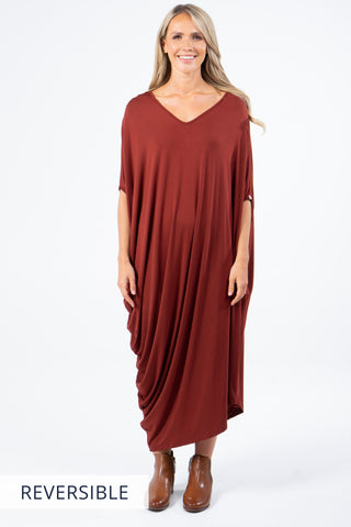 Drape Dress in Ochre