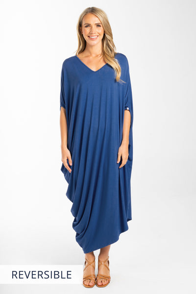 Drape Dress in Sailor Blue
