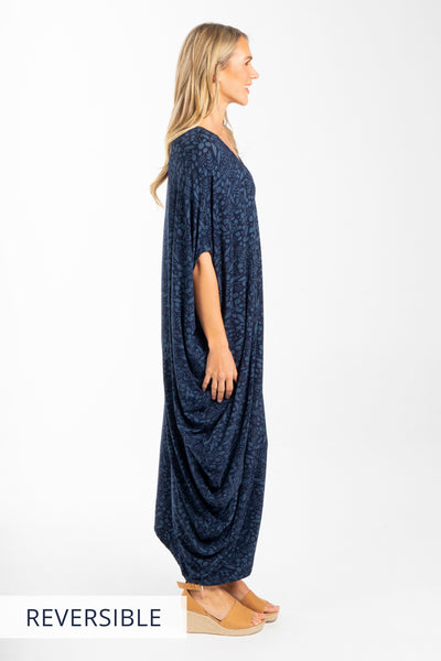 Drape Dress in Seawater