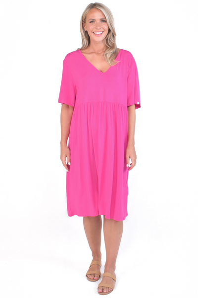 Empress Dress in Hot Pink