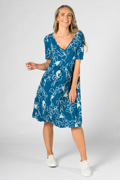 Empress Dress in Navy Paradise