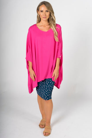 Essential Top in Hot Pink