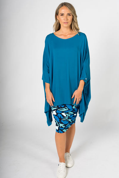 Essential Top in Marine Teal