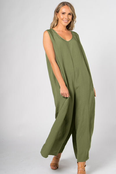 Everyday Jumpsuit in Shamrock