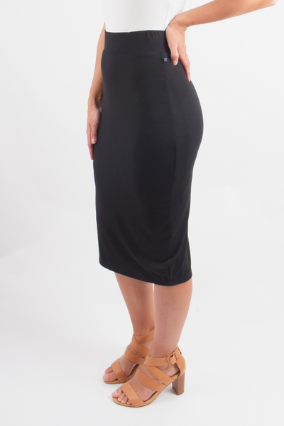 Everyday Midi Skirt in Black
