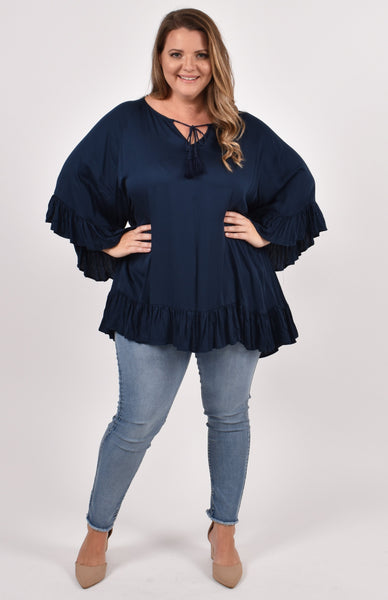 Flyaway Top in Navy
