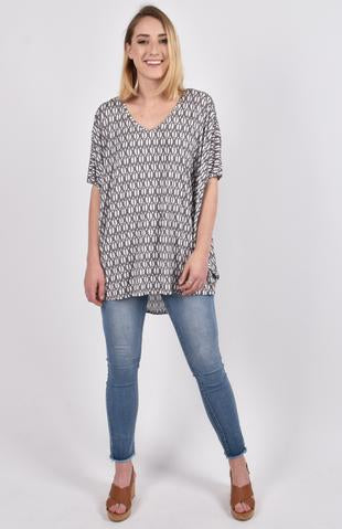 Hi Low Miracle Top in Shell