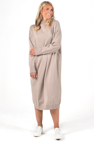 Jetsetter Knit Dress in Sand