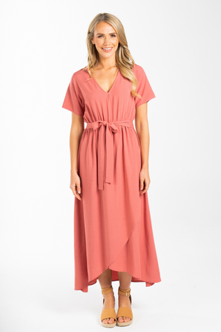 Joyous Maxi Dress in Rouge